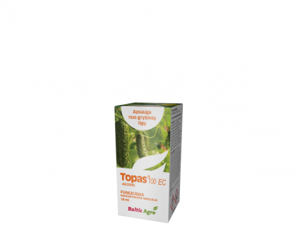 Topas 100 EC 10 ml. Triazolų grupės sisteminis fungicidas. Augalų apsauga nuo ligų