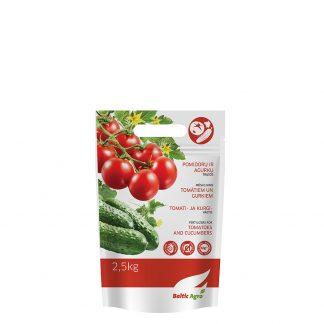 Pomidorų ir agurkų trąšos 2,5 kg. Aukščiausios kokybės kompleksinės trąšos su mikroelementais.