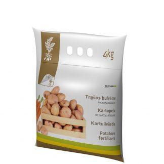Trąšos bulvėms ir kitoms daržovėms 4 kg. Kompleksinės trąšos su mikroelementais. Trąšų sudėtyje nėra chloro
