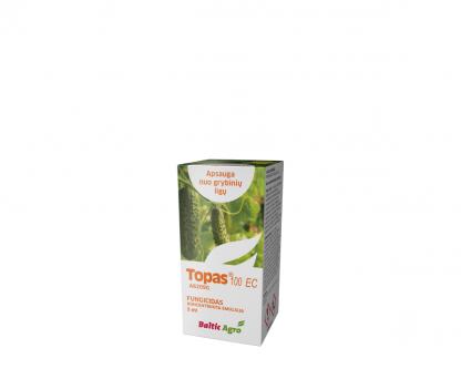 Topas 100 EC 5 ml. Triazolų grupės sisteminis fungicidas. Augalų apsauga nuo ligų