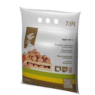 Trąšos bulvėms ir kitoms daržovėms 7,5 kg. Kompleksinės trąšos su mikroelementais. Trąšų sudėtyje nėra chloro.
