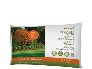 Trąšos vejoms, rudeninės 15 kg. Koncentruotos mineralinės trąšos. Be chloro