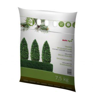 Trąšos spygliuočiams ir visžaliams augalams 7,5 kg. Koncentruotos mineralinės trąšos.