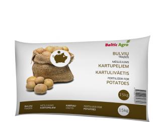 Trąšos bulvėms 15 kg. Kompleksinės trąšos praturtintos kalciu, magniu bei siera.