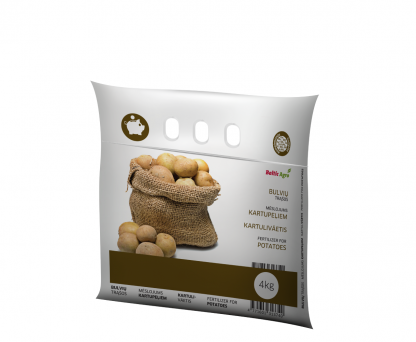 Trąšos bulvėms 4 kg. Kompleksinės trąšos praturtintos kalciu, magniu bei siera.