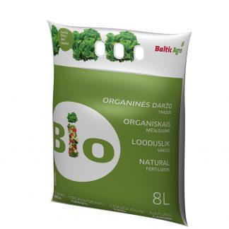 Organinės trąšos daržui 8 L. Trąšos pagamintos tik iš natūralių medžiagų, jų sudėtyje nėra cheminių priedų.