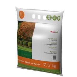 Trąšos vejoms, rudeninės 7,5 kg. Koncentruotos mineralinės trąšos. Be chloro