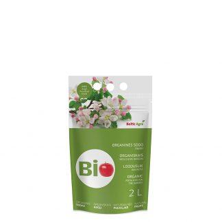 Organinės trąšos sodui 2 L. Trąšos pagamintos tik iš natūralių medžiagų, jų sudėtyje nėra cheminių priedų.
