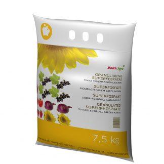 Granuliuotas superfosfatas 7,5 kg. Tinka visiems sodo augalams