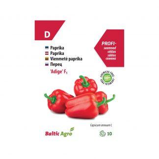 """Vienmetė paprika """"Adige"""" F1. 100% be chemikalų"""